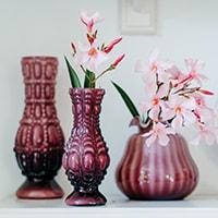 Vase - with dots purple